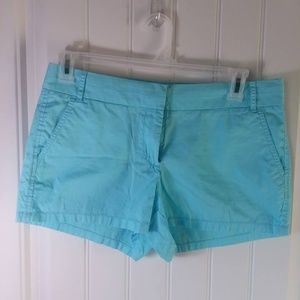 J.Crew Chino Broken In Teal Shorts Size 10